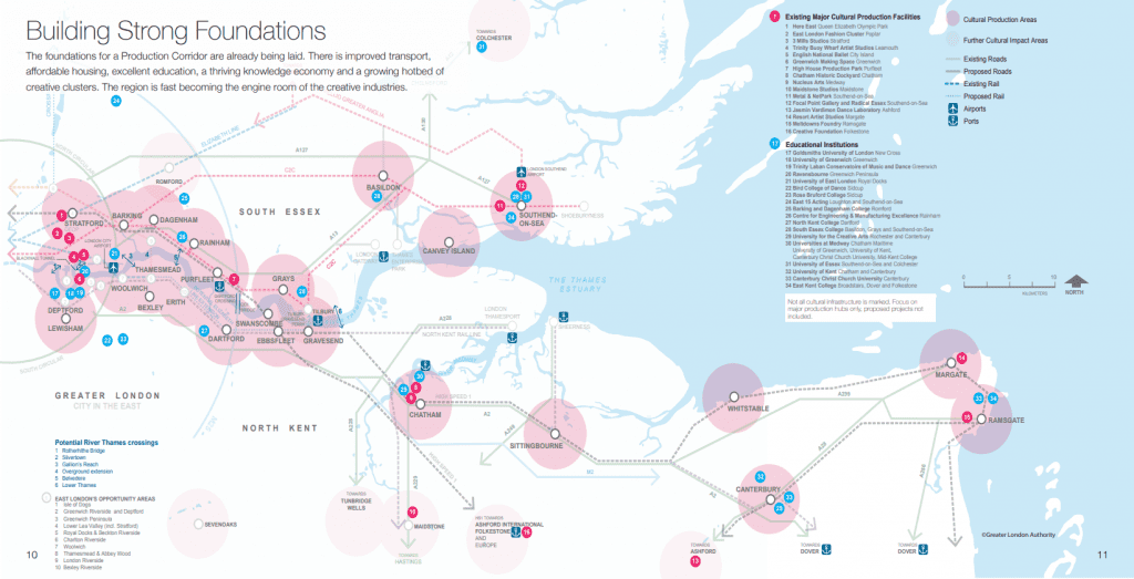 Thames Estuary Production Corridor Map